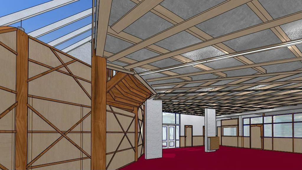 Nieuwe hal, rechterzijde vrijeschool Maliebaan