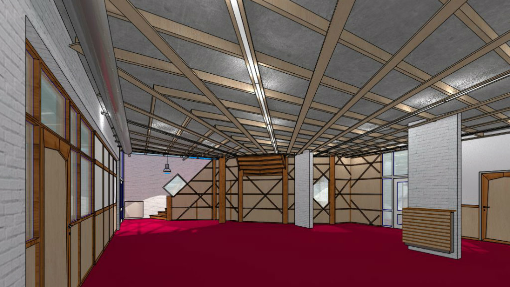 Nieuwe hal vrijeschool Maliebaan